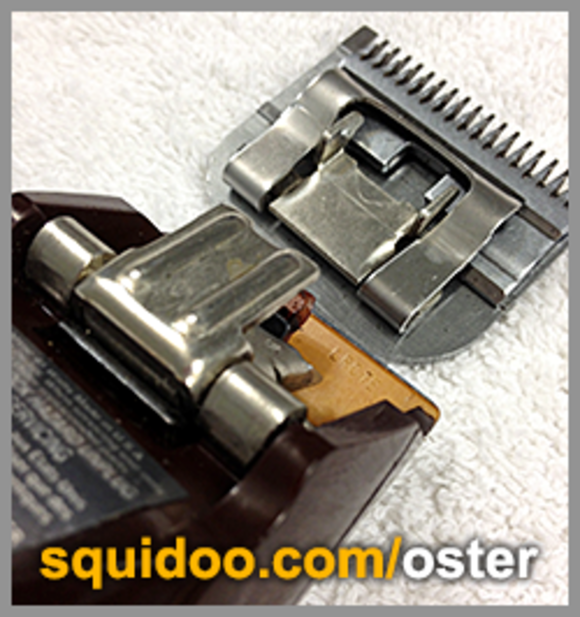 An Oster blade detached from the Classic 76