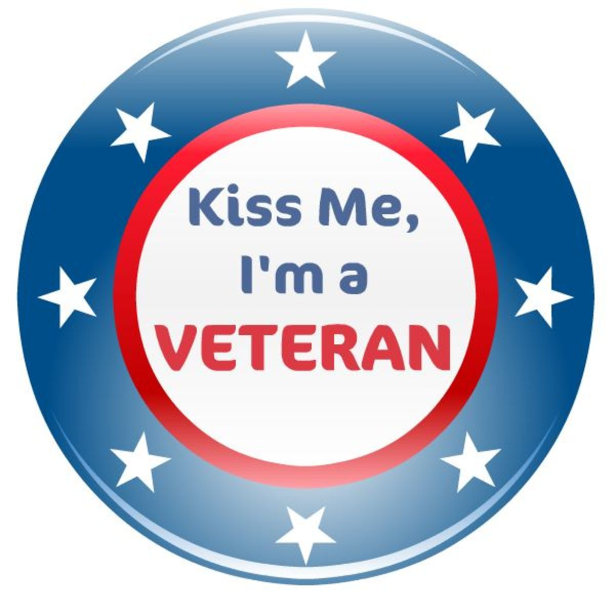 "Veterans Day clip art ""Kiss me, I'm a Veteran"""