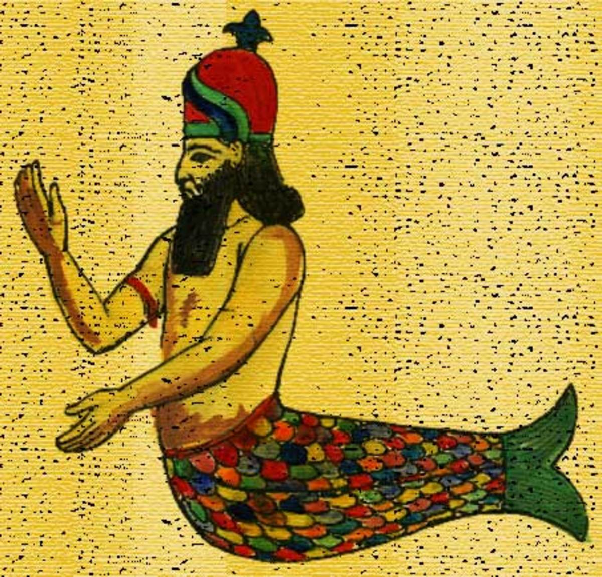 Dagon fish-god of the Philistines