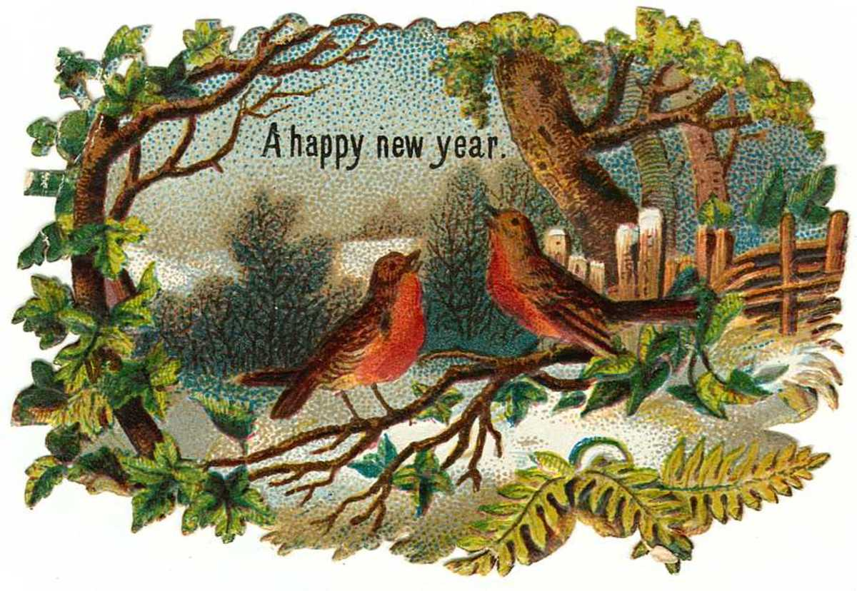 Free Vintage New Years Clip Art