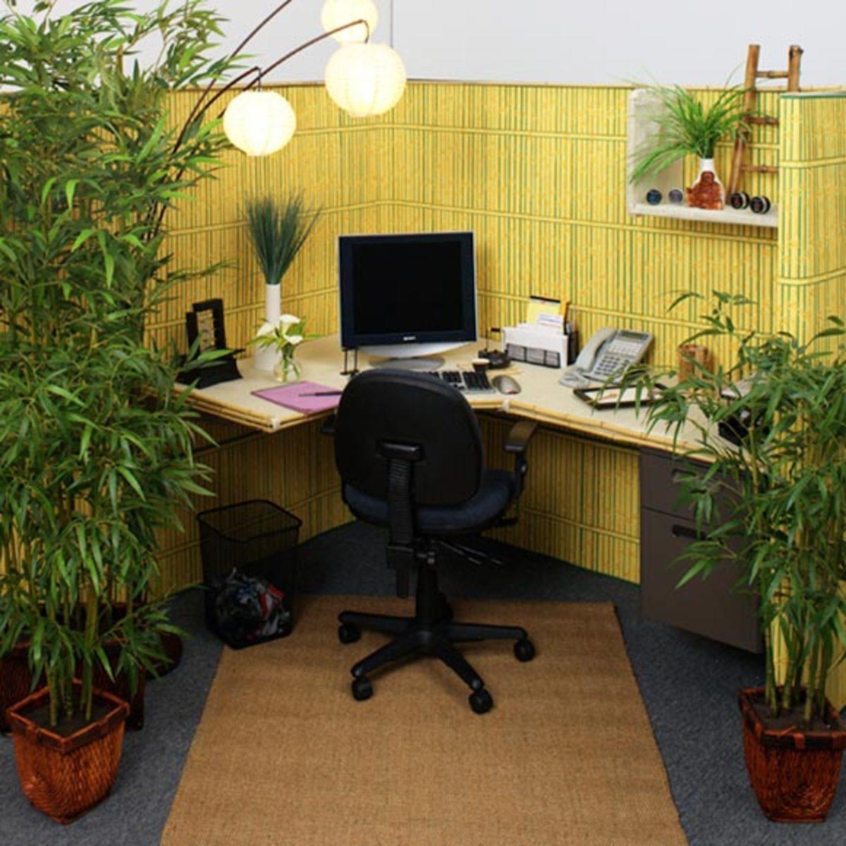 A workspace as tropical getaway