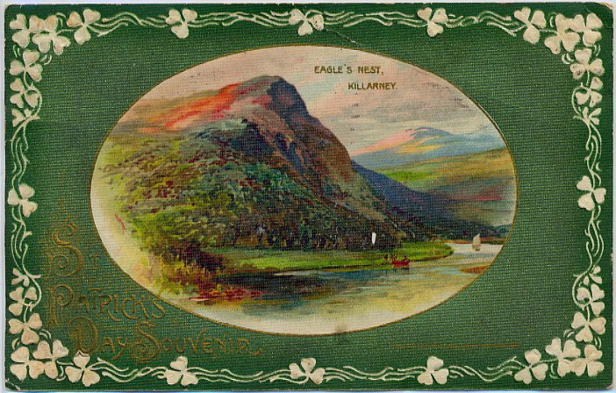 Eagle's Nest in Killarney, Ireland free vintage postcard