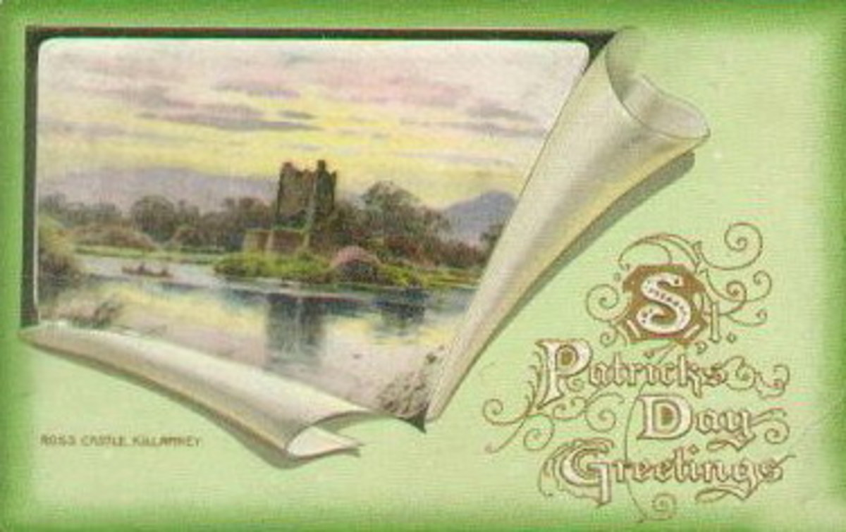 Ross Castle, Killarney vintage Ireland postcard