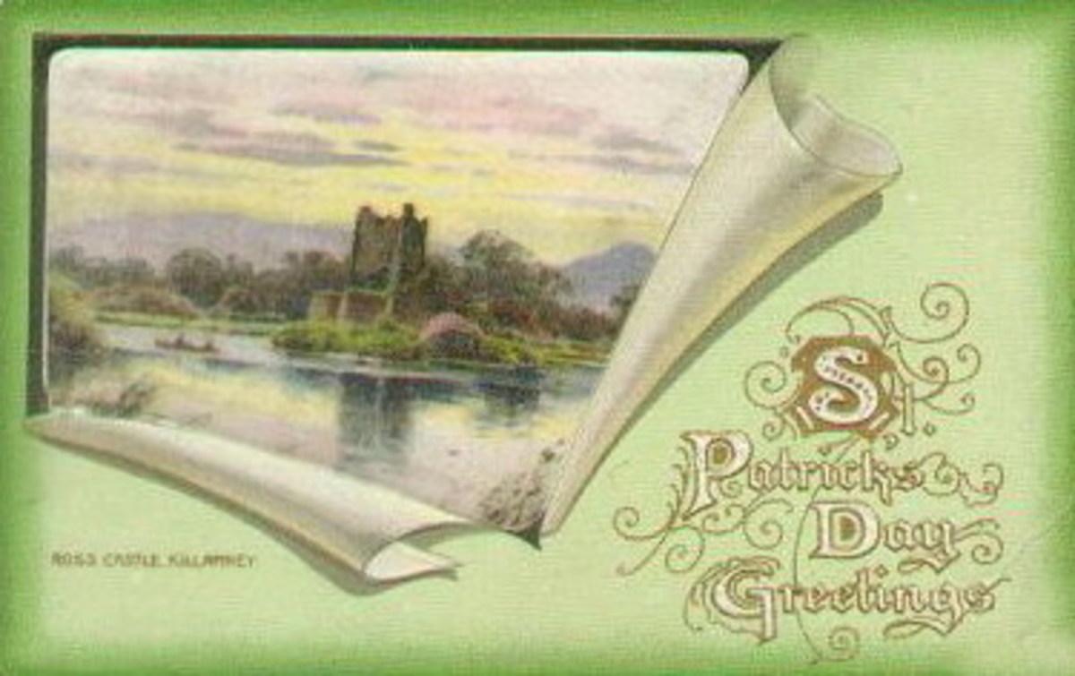 Ross Castle, Killarney vintage Ireland postcard