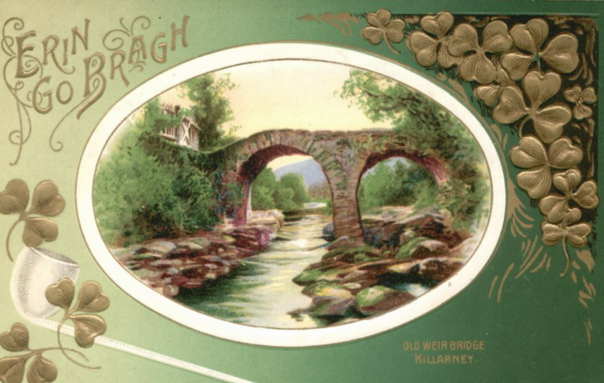 Old Weir Bridge in Ireland: Erin go Bragh