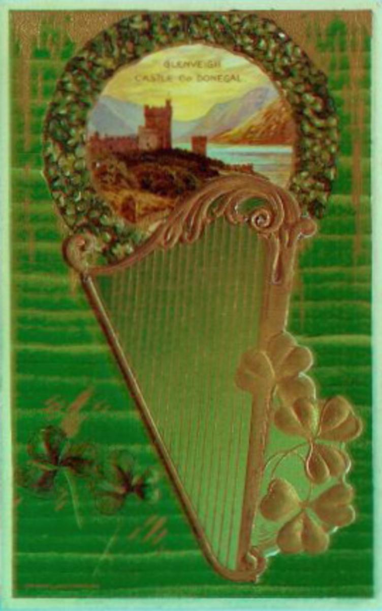 Glenveigh Castle, Co. Donegal, Ireland vintage postcard