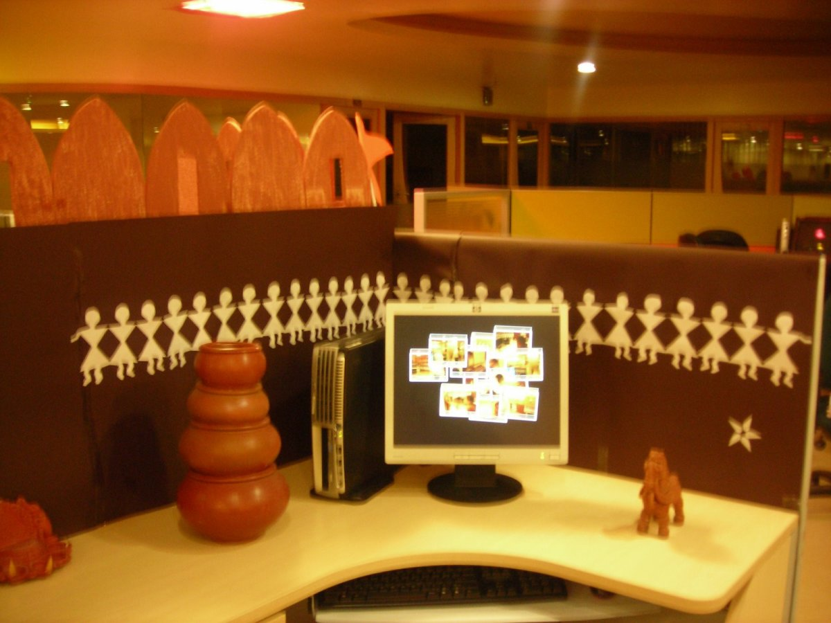 Lastest Cubicle Decoration Themes In Office For Independence Day  Home Decore