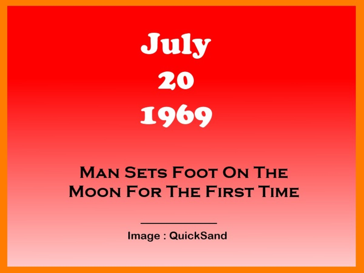 It Was On This Day That The First Human Being Set Foot On The Moon