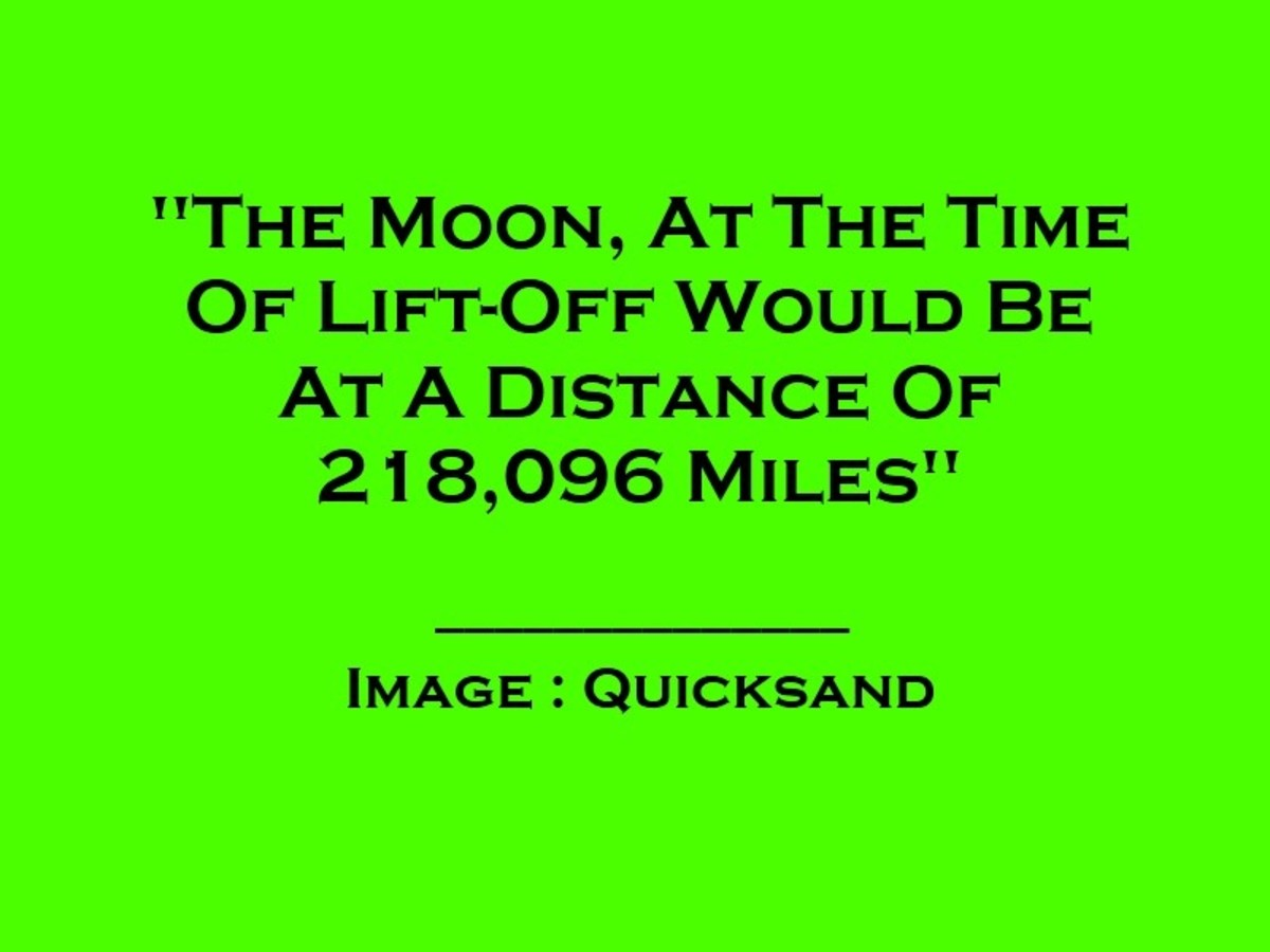 At The Time Of Lift-Off The Moon Had Been At A Distance Of 218,096 Miles
