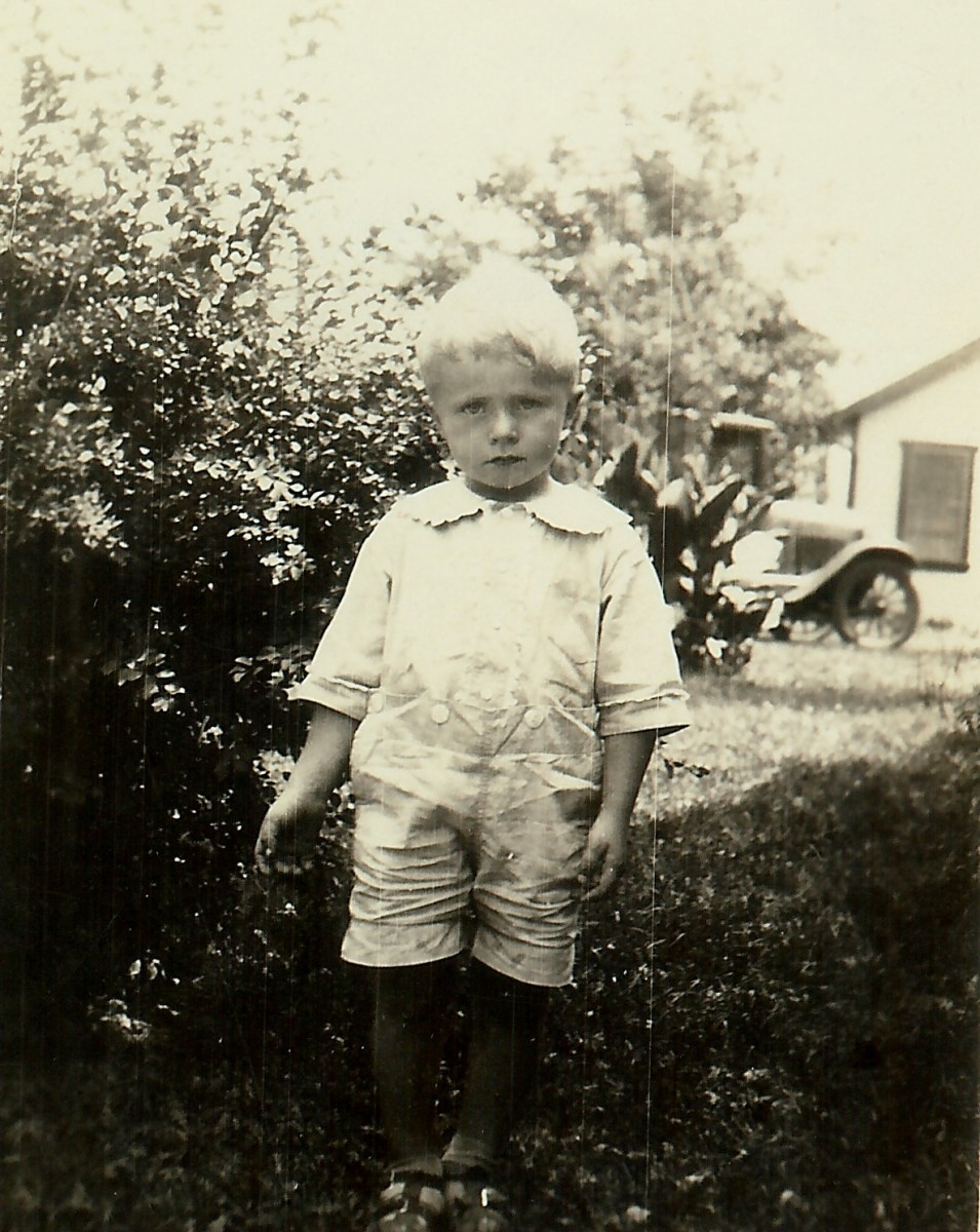 My dad as a small boy