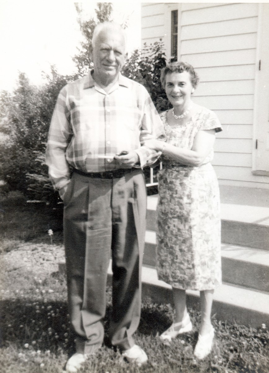 A photo that I took of my grandparents with my first Brownie camera prior to us moving to Texas in 1960.