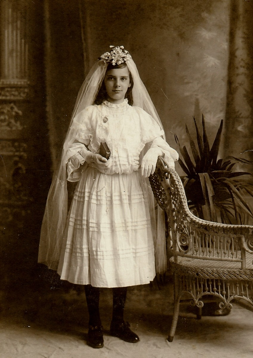 My grandmother's first holy communion photo