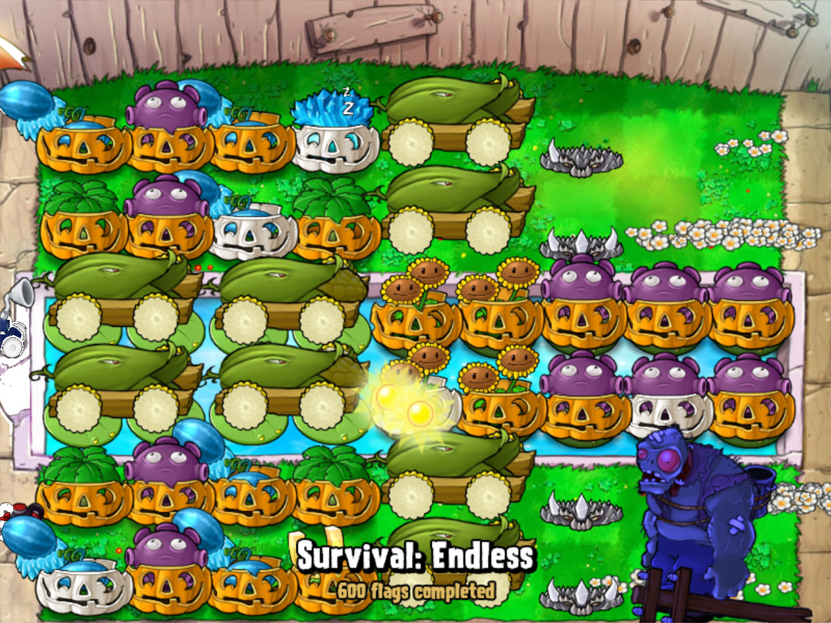 Plants VS Zombies Endless 1000 Flags