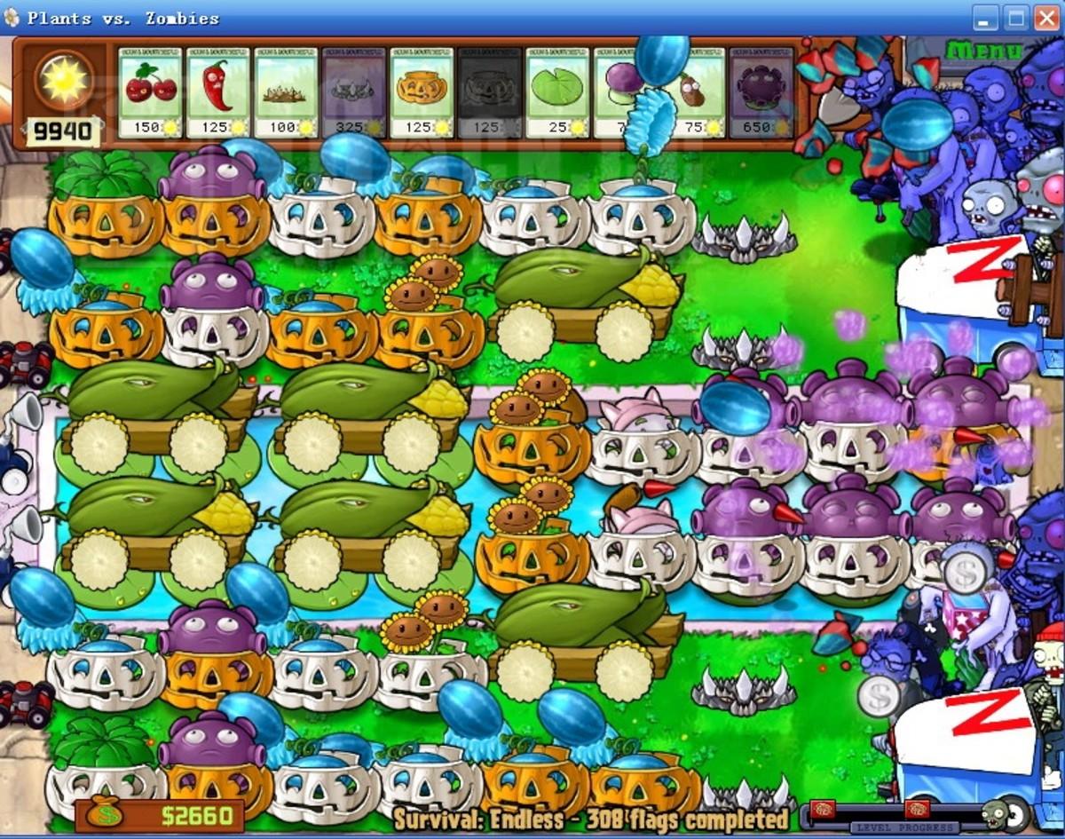 Plants VS Zombies Endless 1000 Flags