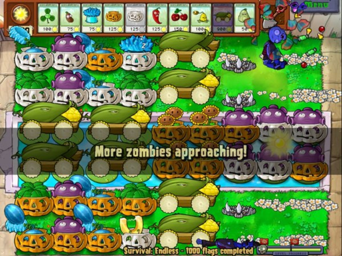 Plants vs zombies survival endless best record grammy