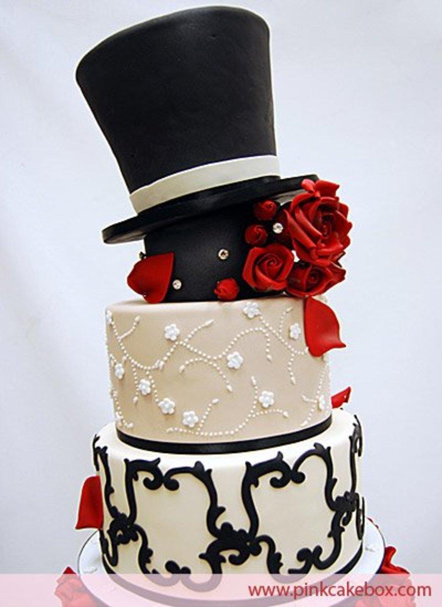 Hollywood Wedding Cake Theme [pinkcakebox.com]
