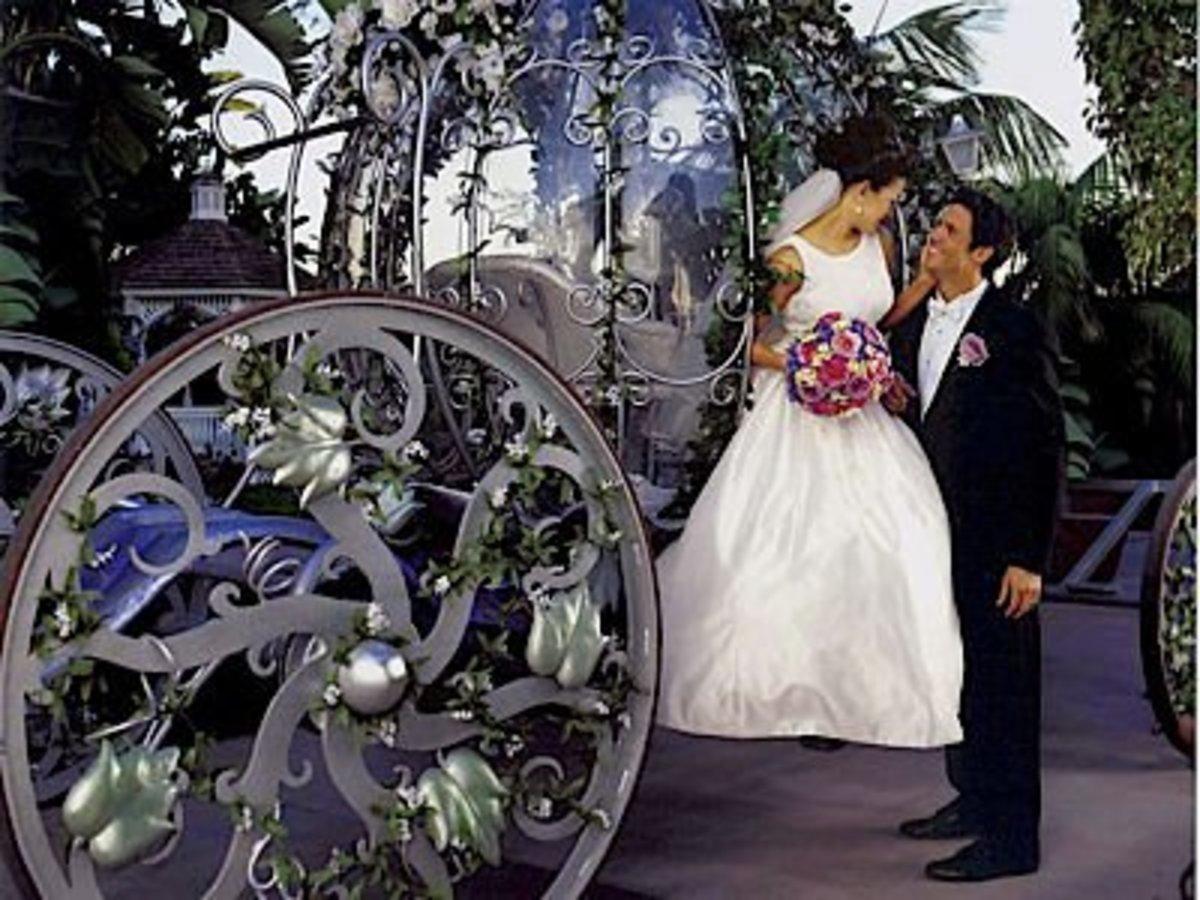 Fairytale wedding with carriage [1weddingsource.com]