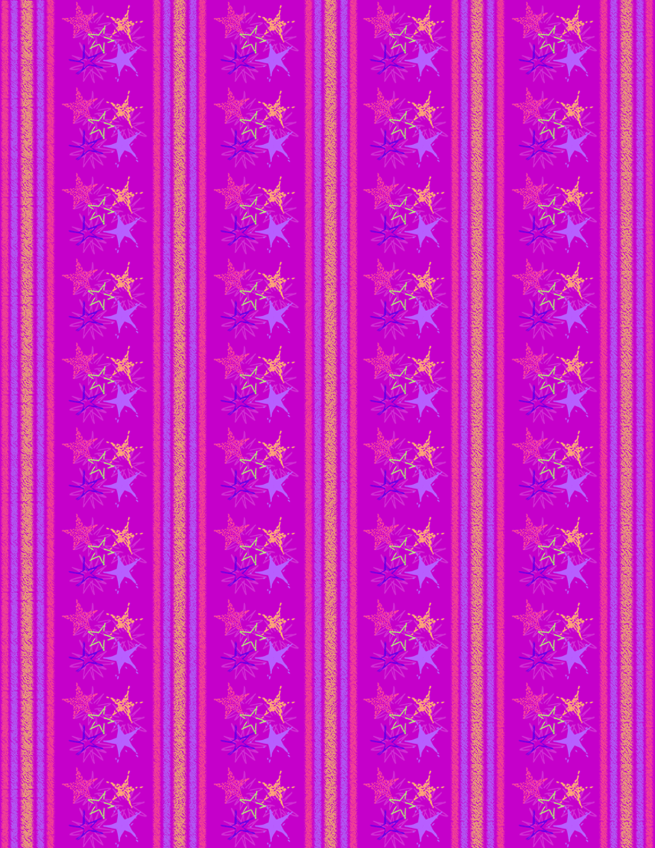 Starburst and stripes scrapbook paper design -- purple background