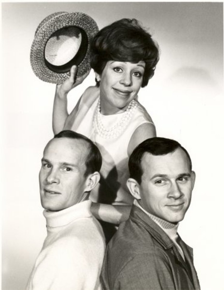 Carol Burnet with the Smothers Brothers
