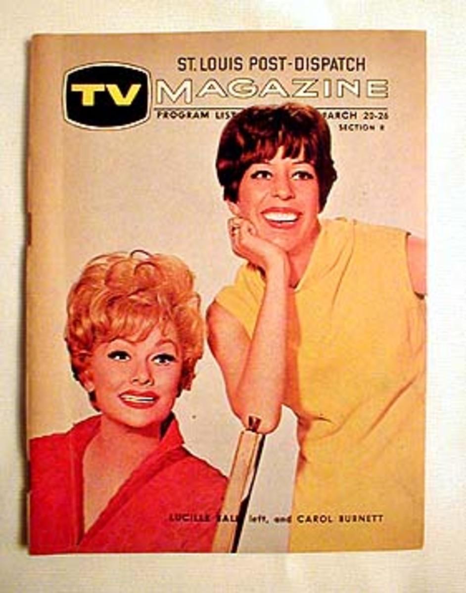 Carol Burnett on St. Louis Post Dispatch Magazine TV Schedule