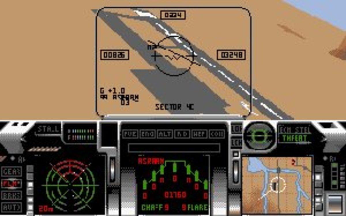 Flying over the desert in your F-29