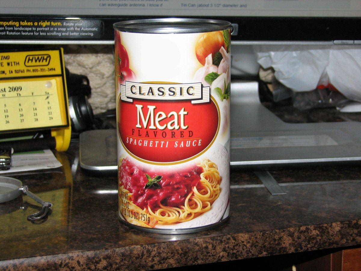 Spaghetti Sauce Can
