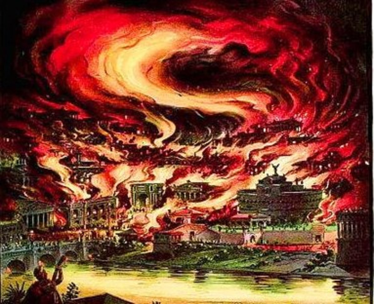 GREAT FIRE OF ROME 64 AD