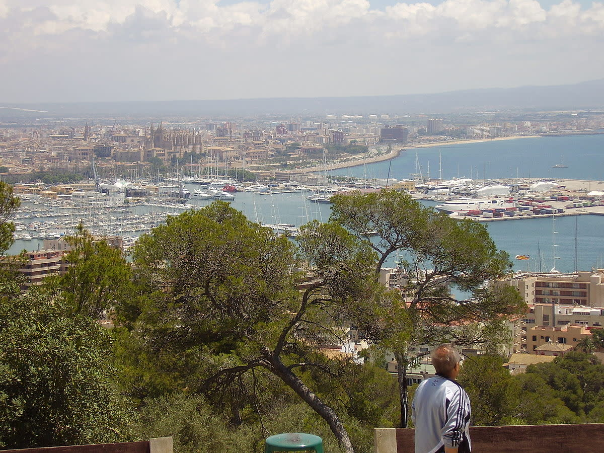 View of Palma, Mallorca from Bellver Castle
