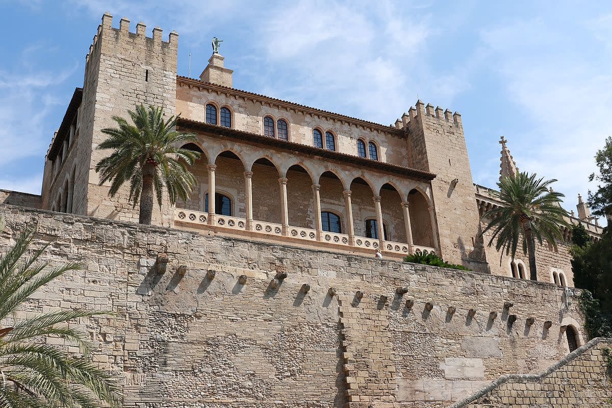 Exterior of the Royal Palace of Almudaina in Palma, Mallorca
