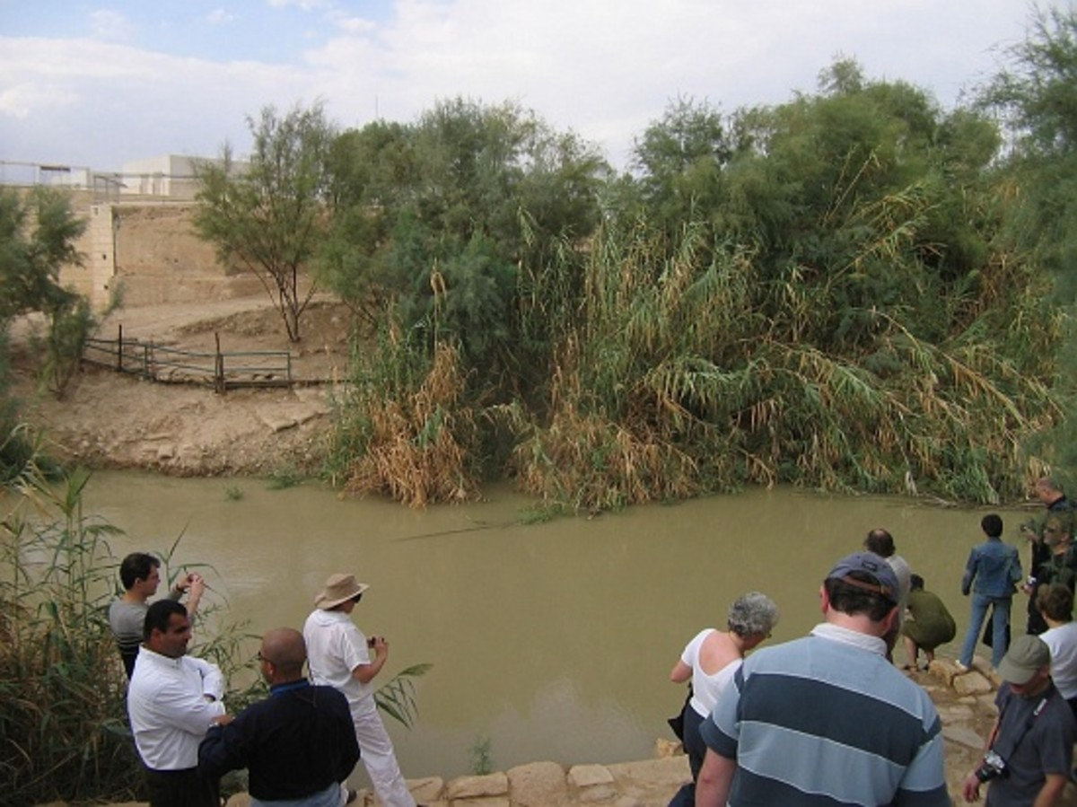 Approaching the Jordan River on the Jordan site, Israel is across the River Photo by Richard Beck