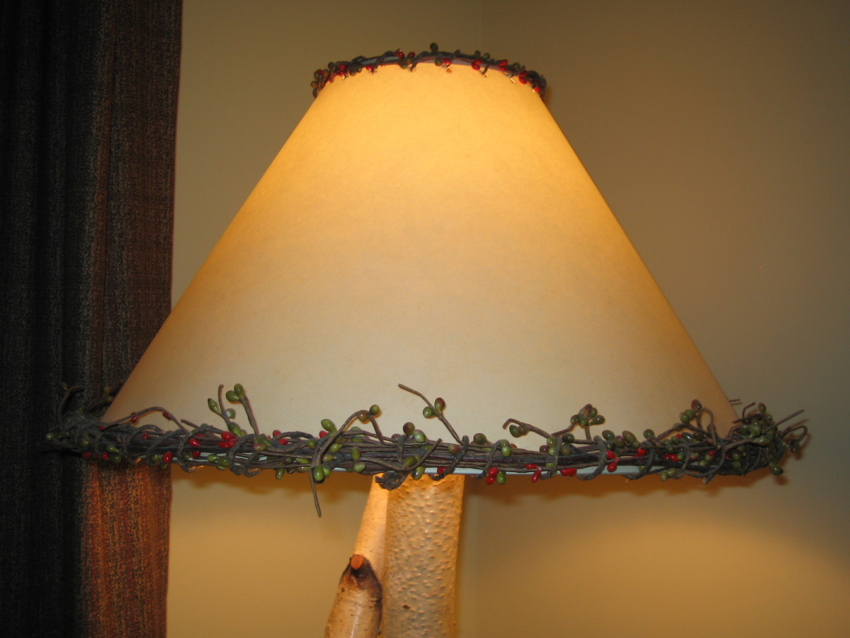 Rustic Lighting - How To Craft A Whimsical Lampshade
