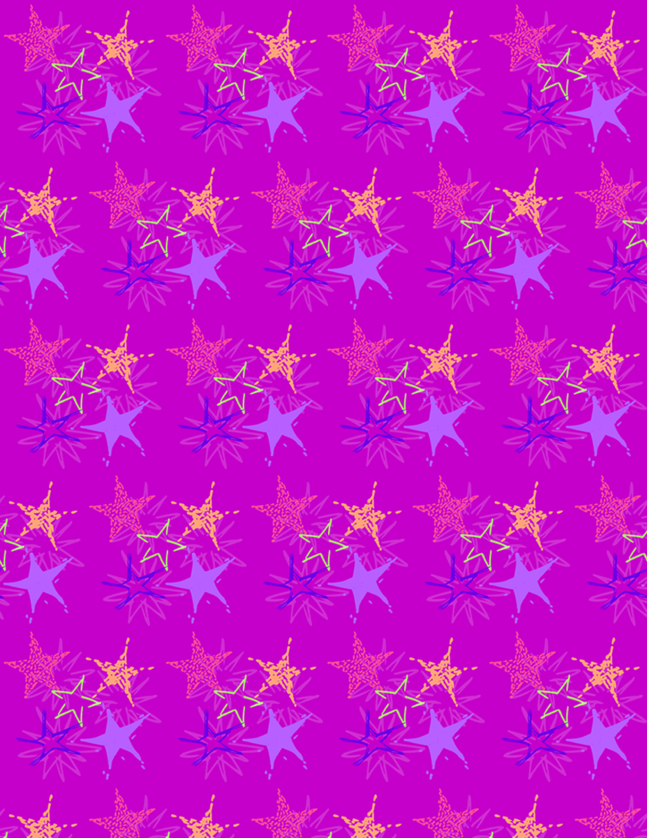 Free starburst scrapbook paper design -- purple background