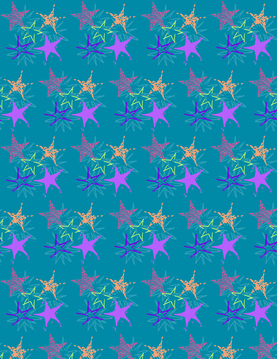 Free starburst scrapbook paper design -- teal background