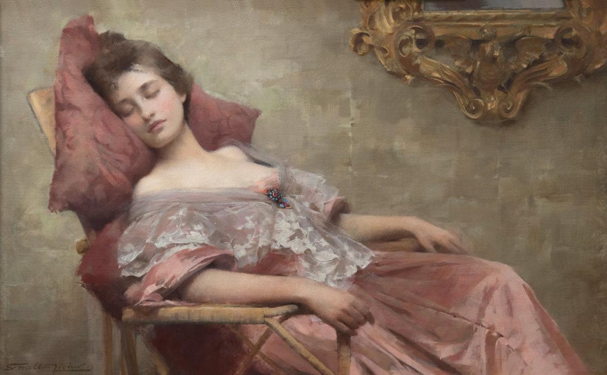 Samuel Melton Fisher Asleep 1902 Oil
