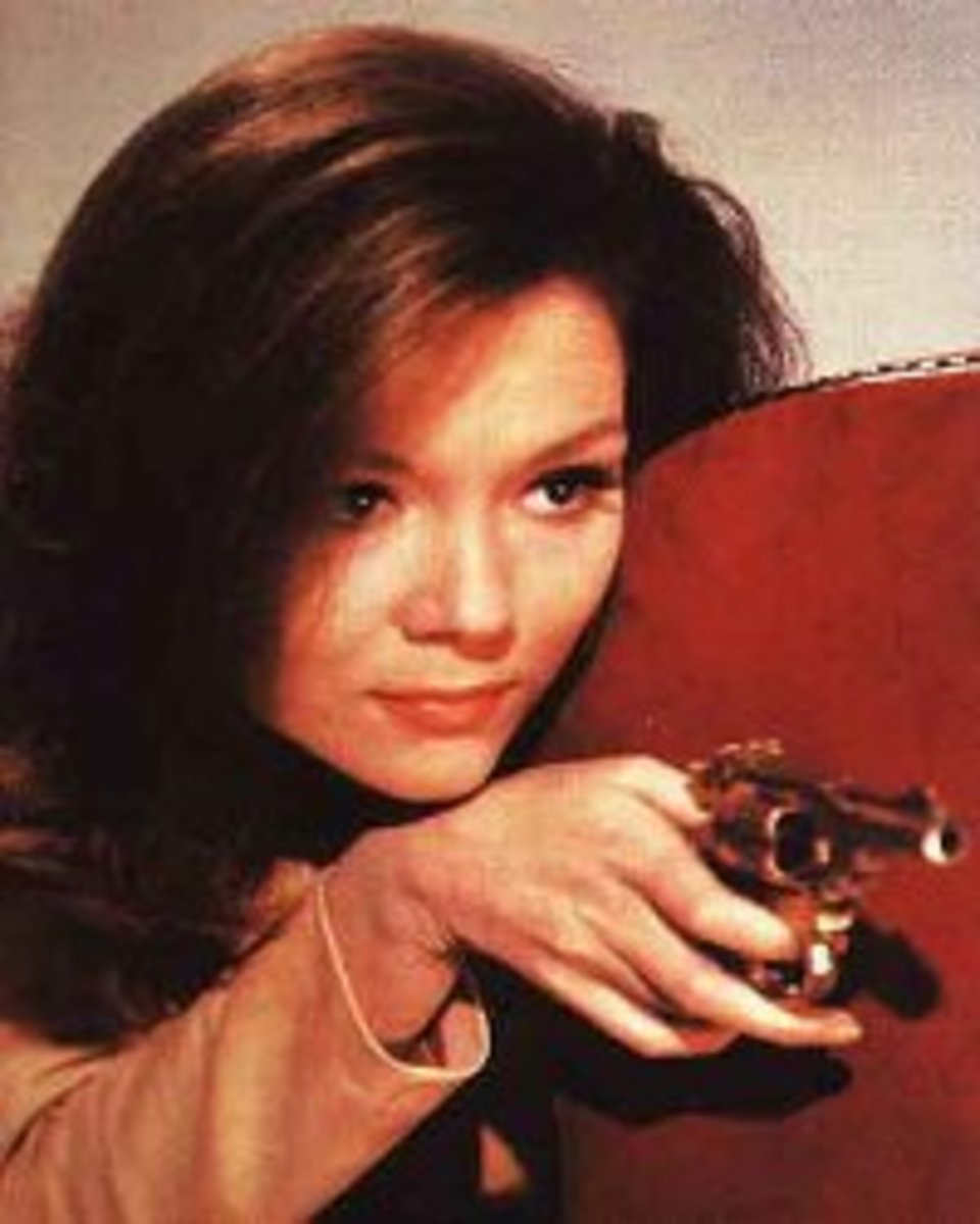 Emma Peel as featured in the introduction to the color episodes