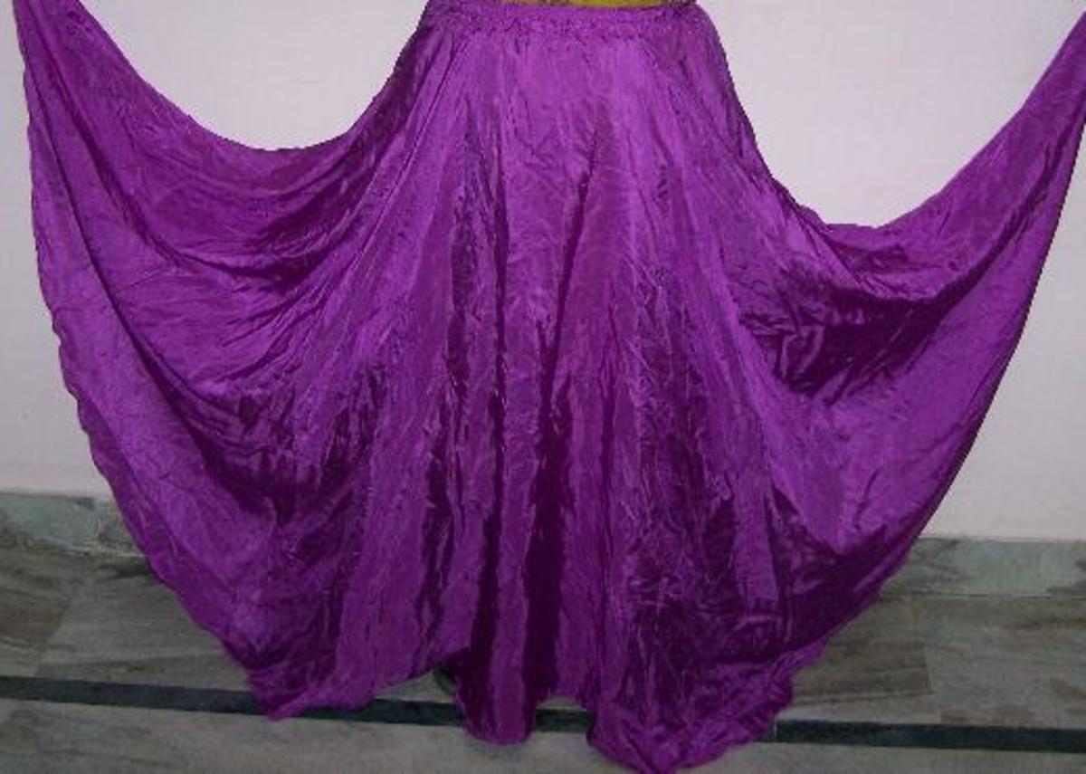 A pretty purple circle skirt!
