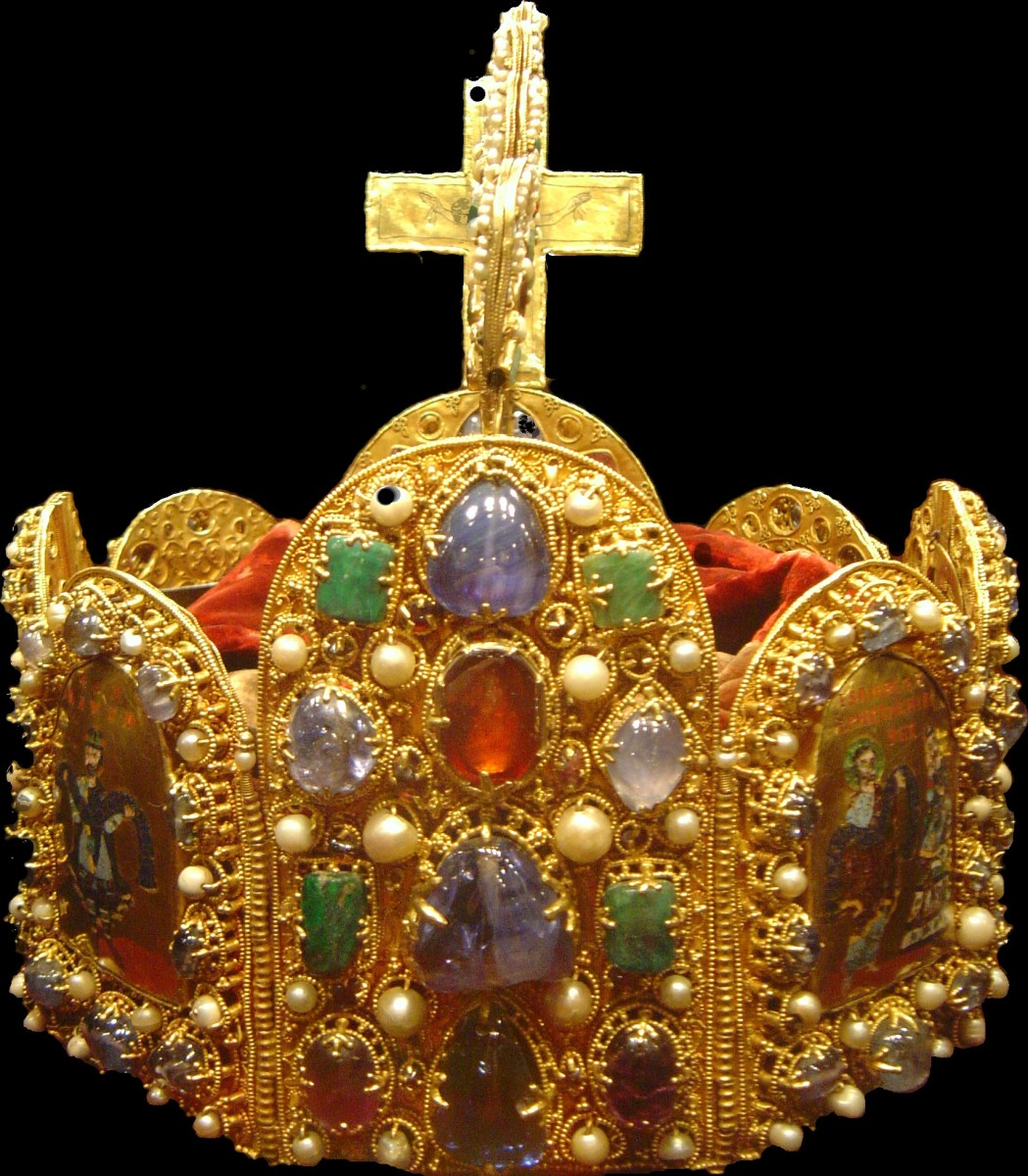 THE ACTUAL CROWN OF CHARLEMAGNE