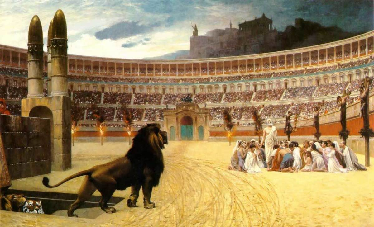 CHRISTIAN MARTYRS IN THE COLOSSEUM
