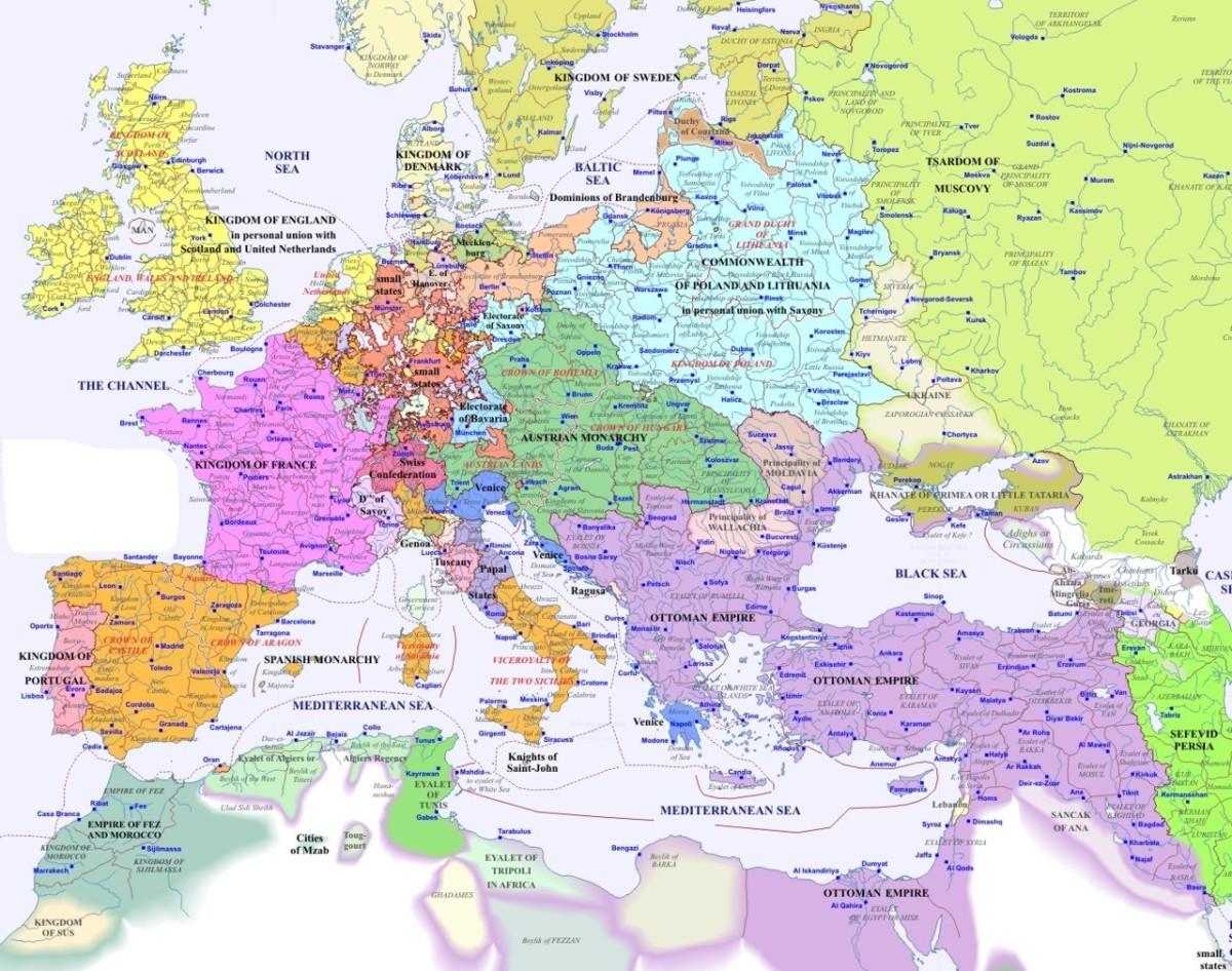 CHRISTENDOM MAP 1700