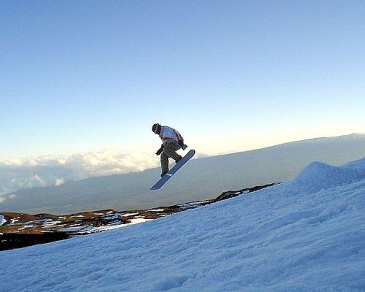 Snowboarding Mauna Kea Hawaii
