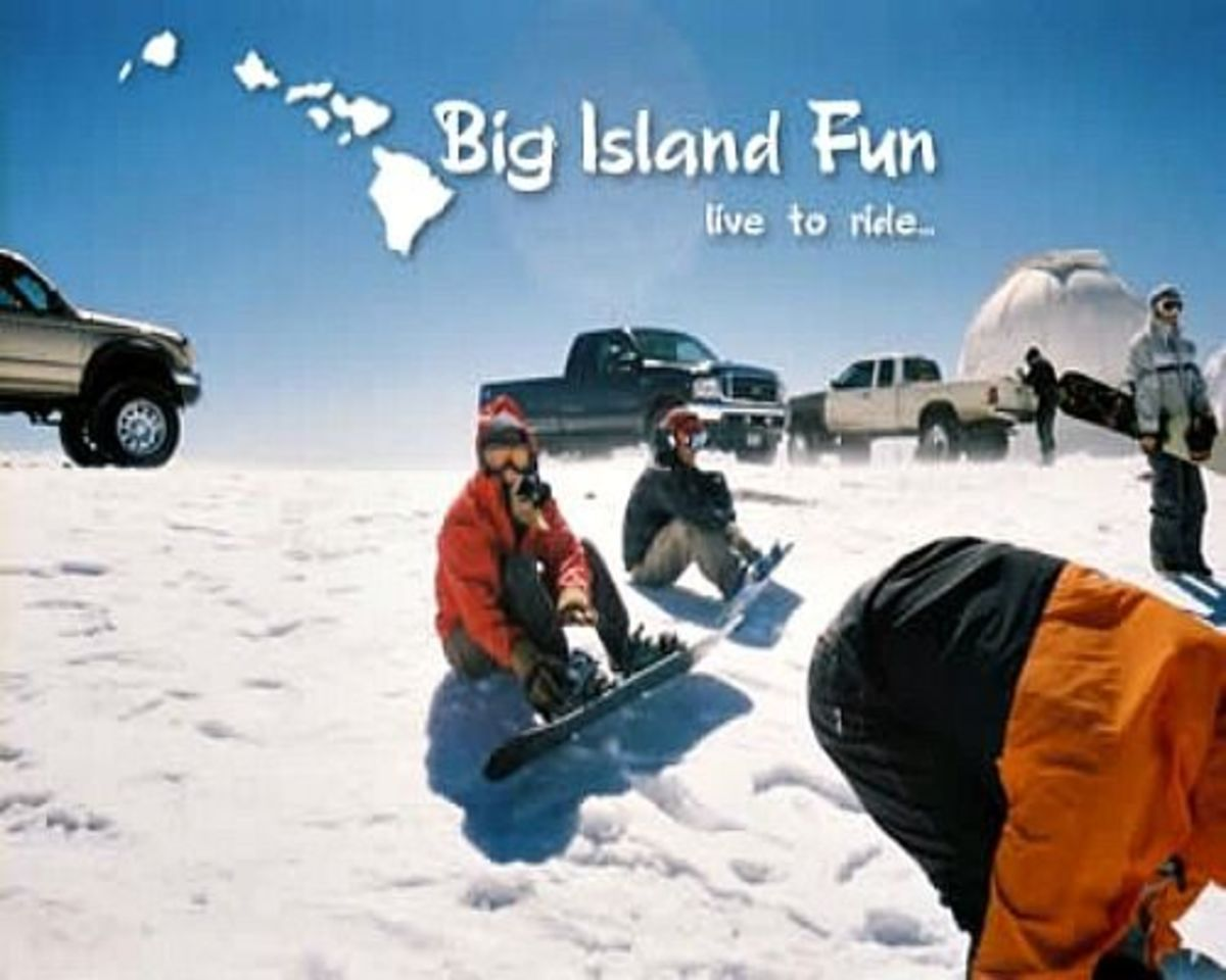 Photo of Snow Boarders Mauna Kea Big Island Fun.