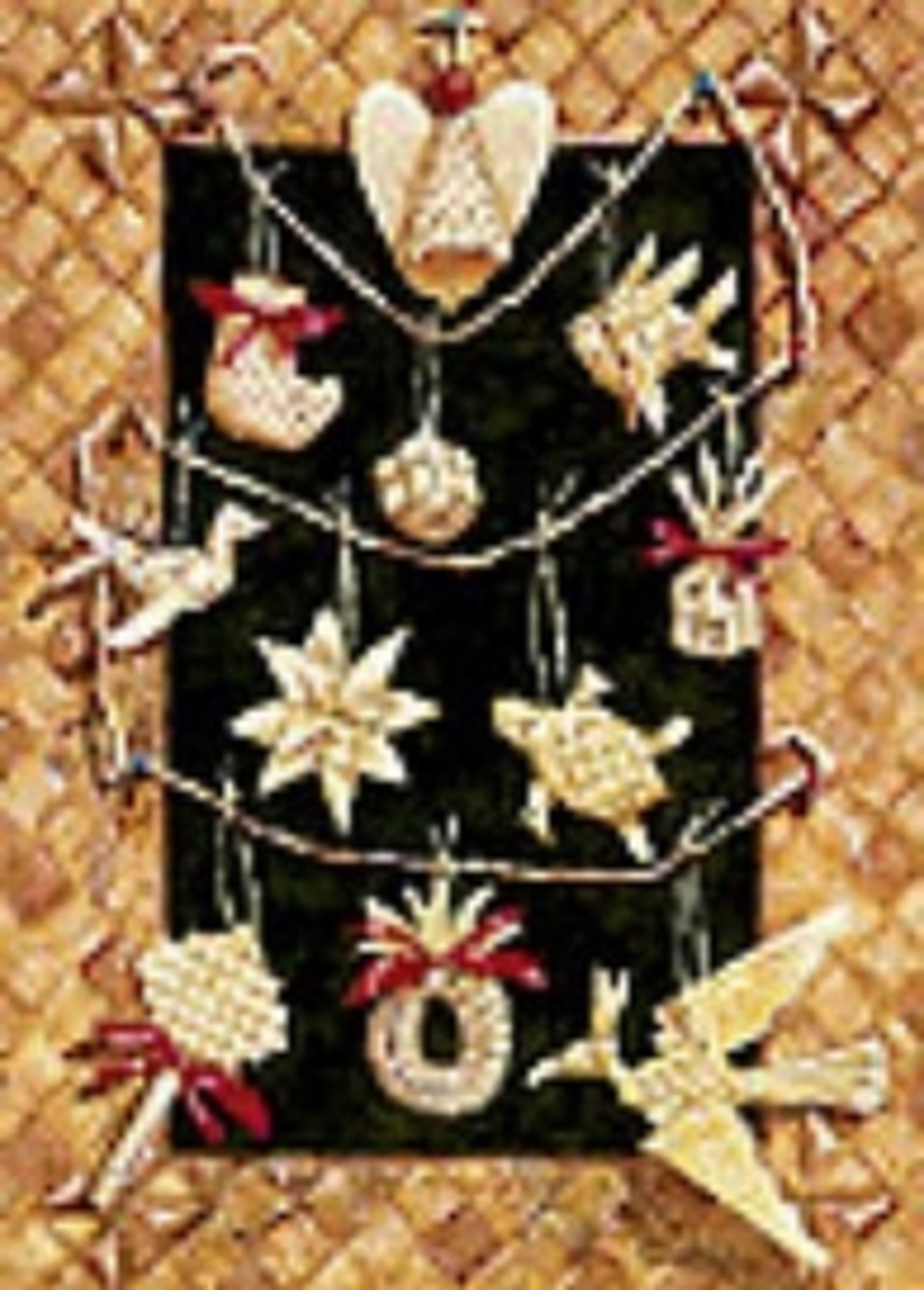 Hawaii-lauhala-christmas-ornaments
