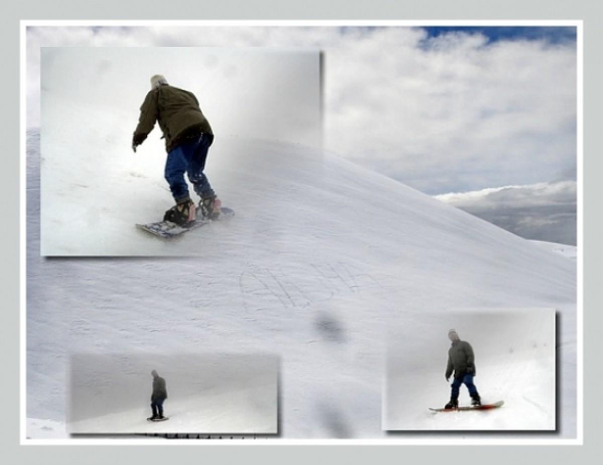 Marty Snowboarding Mauna Kea Hawaii