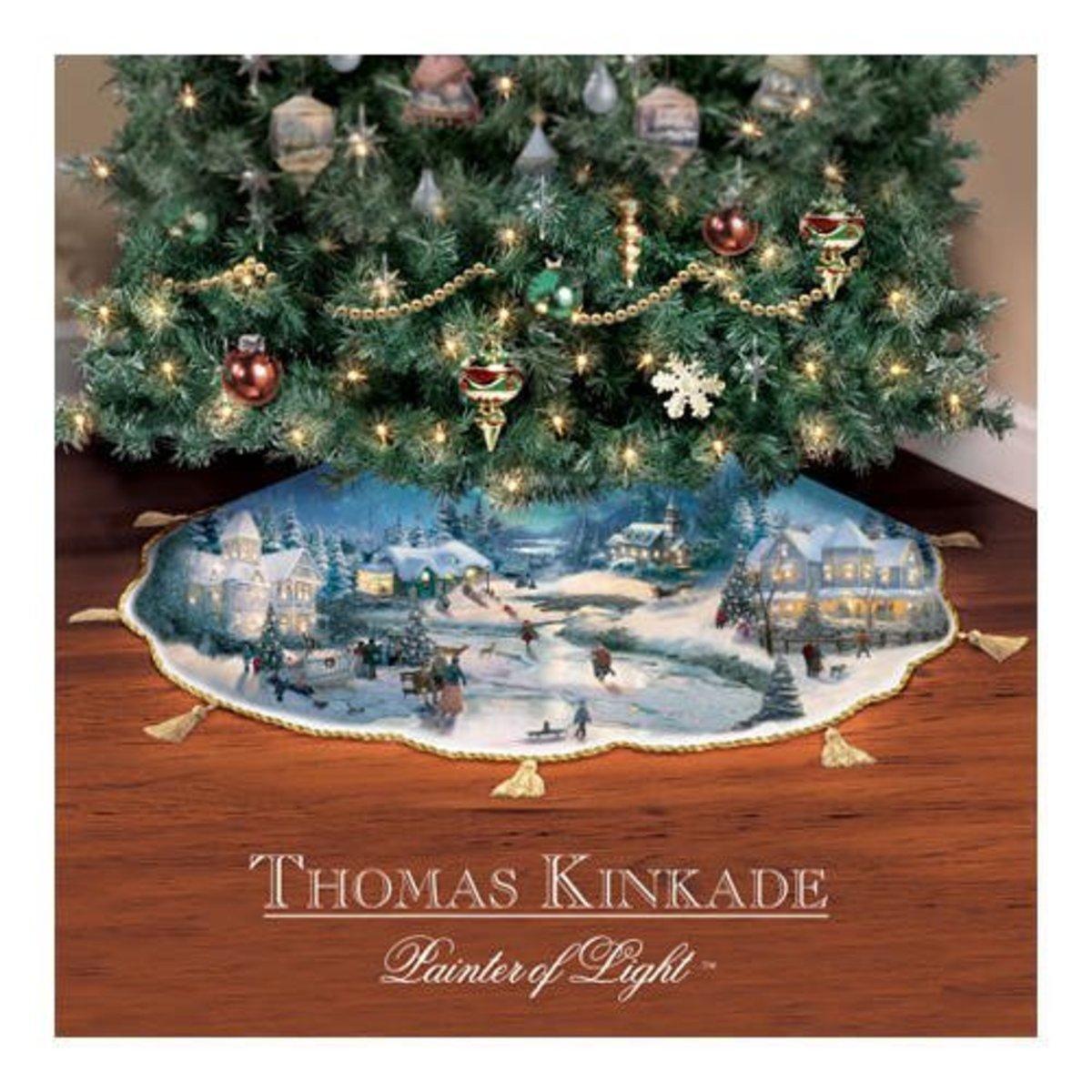 Thomas Kinkade Christmas Tree Skirt