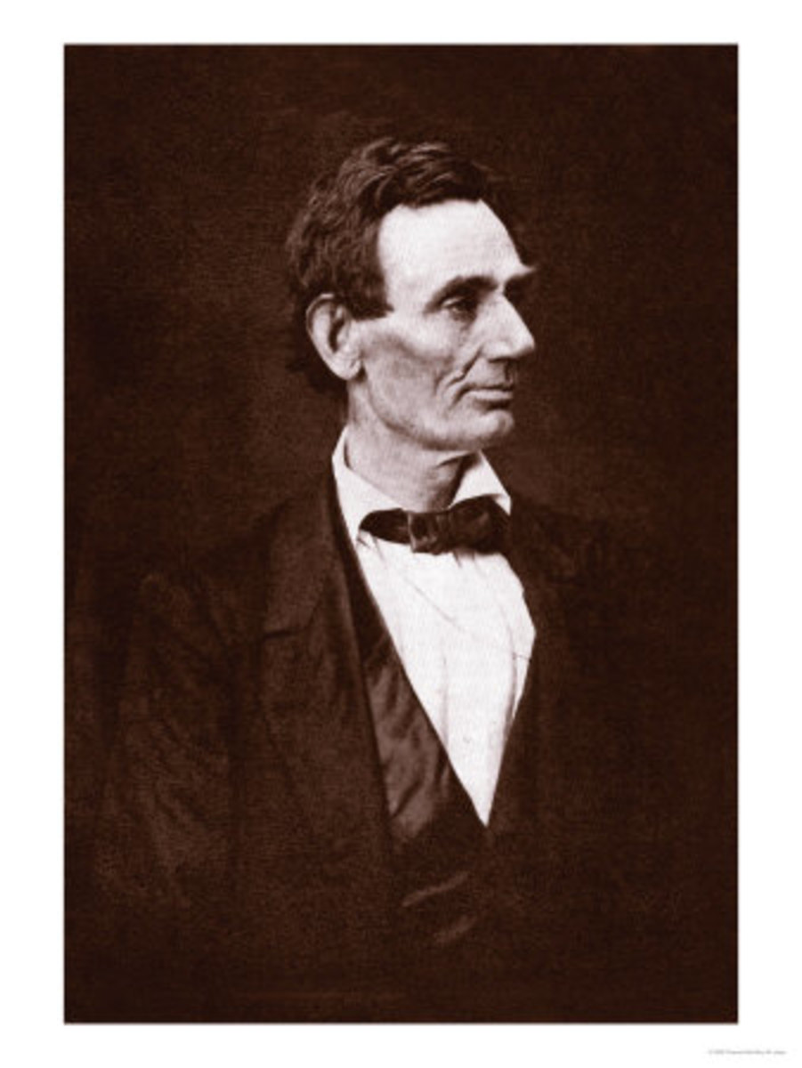 "Thomas Hicks ""Portrait of Abe Lincoln"", photo courtesy of allposters.com"