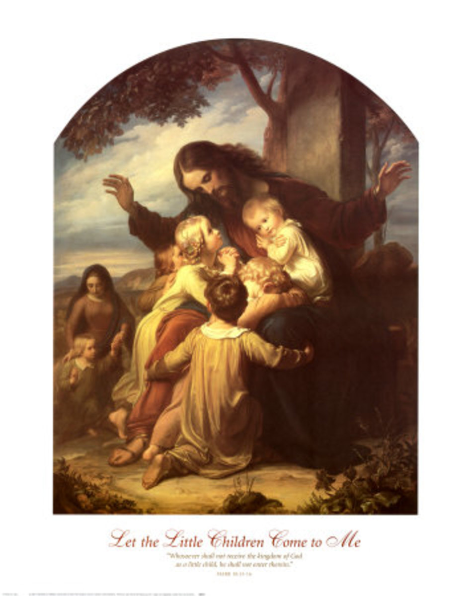 "Oil Painting by Ford Madox Brown, entitled ""Suffer the Little Children"", photo courtesy of all posters.com"