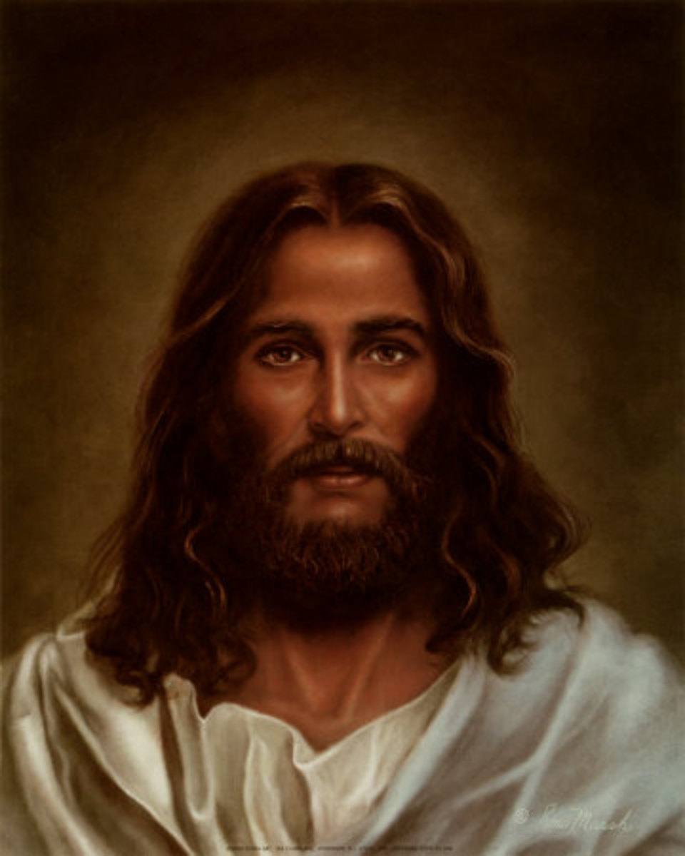 "Oil Painting by Ron Marsh, entitled ""Head of Christ"", photo courtesy of allposters.com"