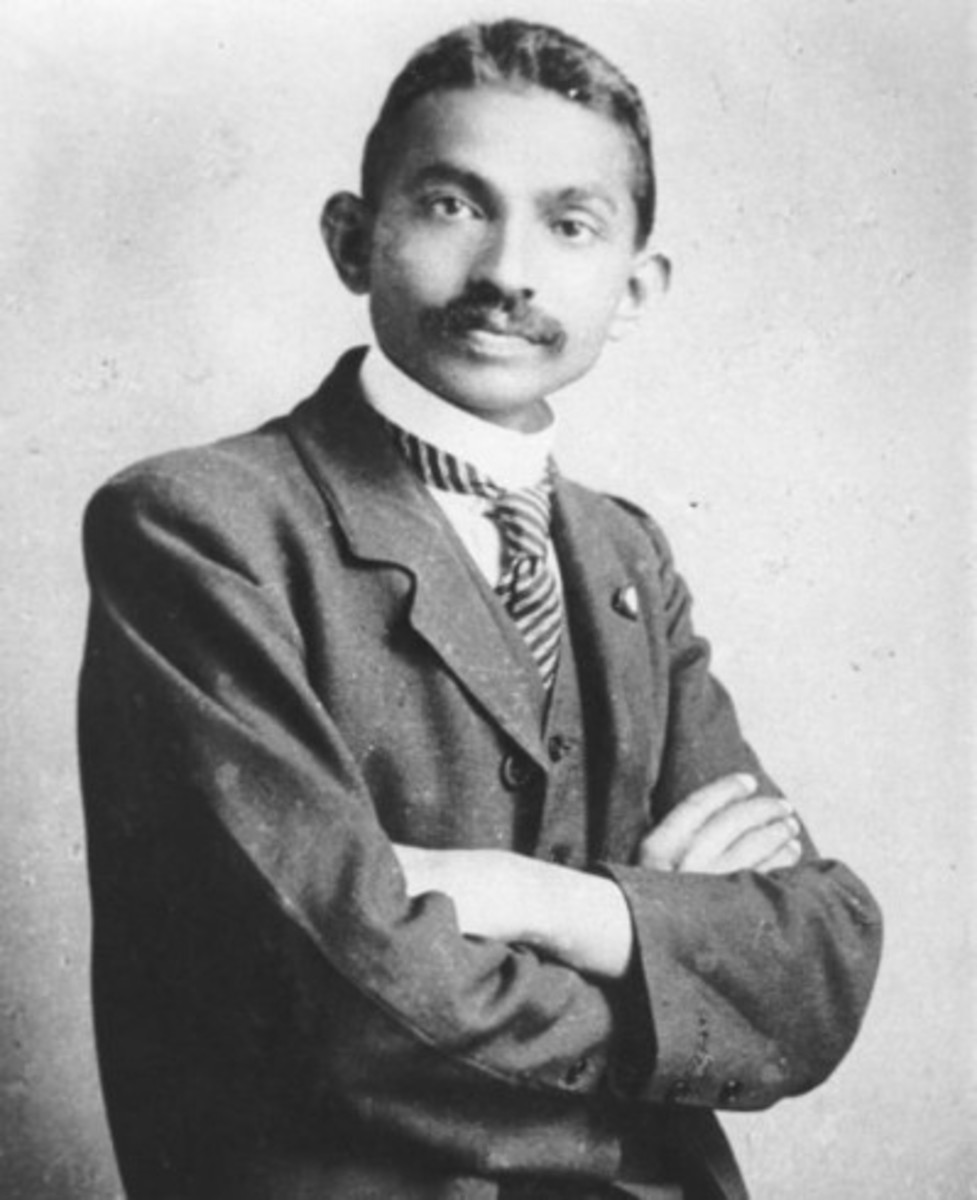 Mahatma Gandhi as a young man