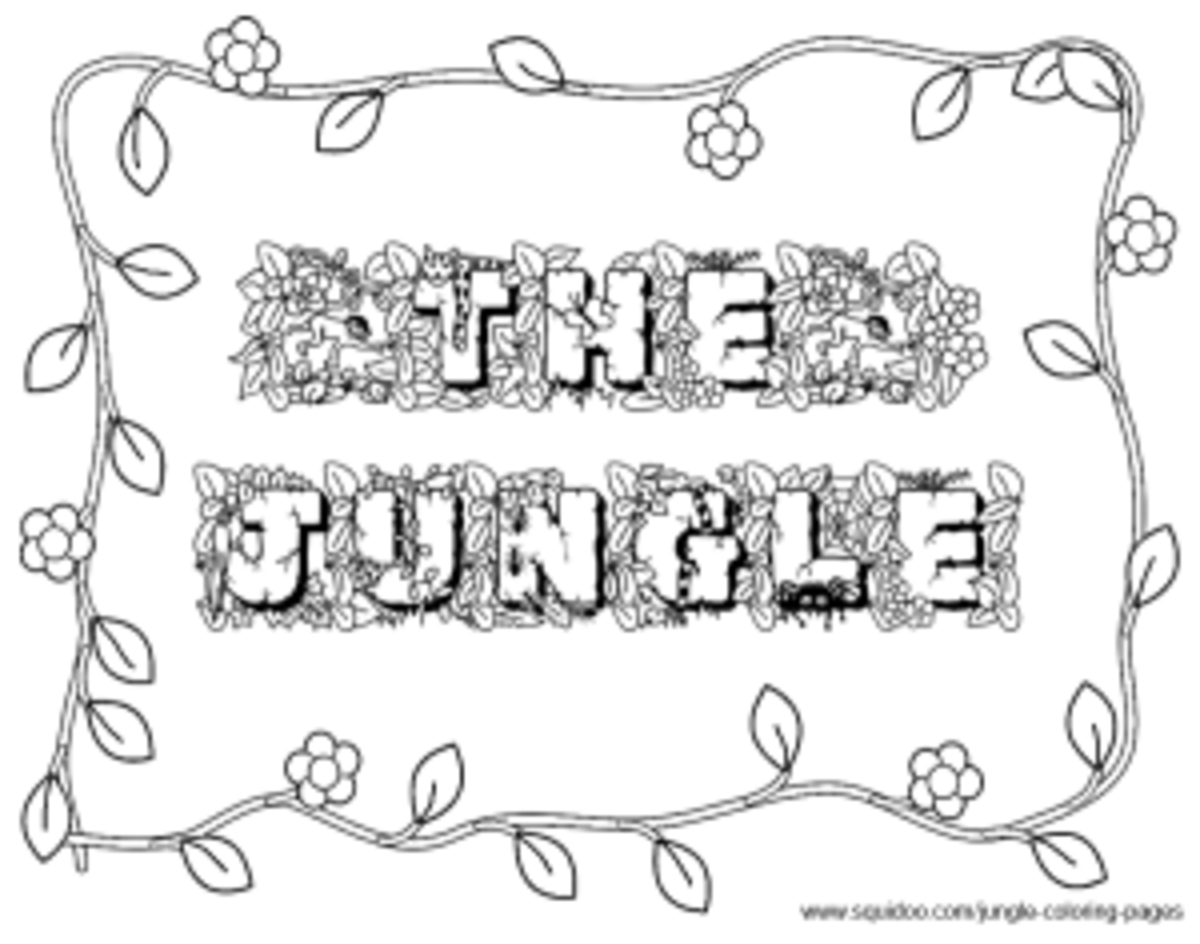 jungle fonts and borders
