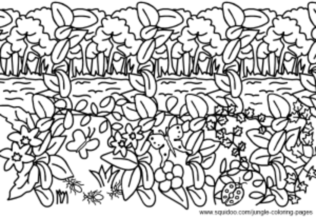 Jungle theme coloring pages